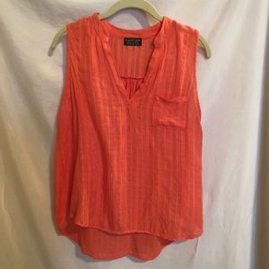 Papermoon for Stitch Fix Sleeveless Coral Top